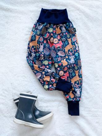 Nohavice softshellové s barančekom Zvieratká Kiwi