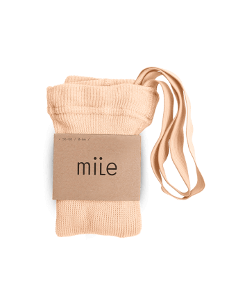 Pančuchy s trakmi broskyňové Mile