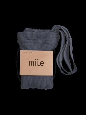 Pančuchy s trakmi oceľovomodré Mile