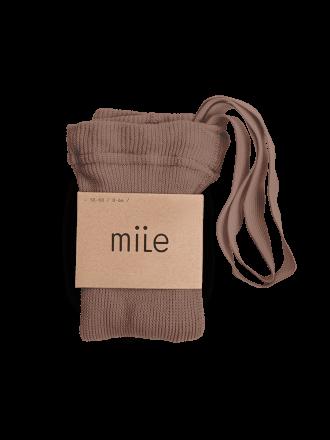 Pančuchy s trakmi orieškové Mile