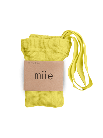Pančuchy s trakmi žlté Mile