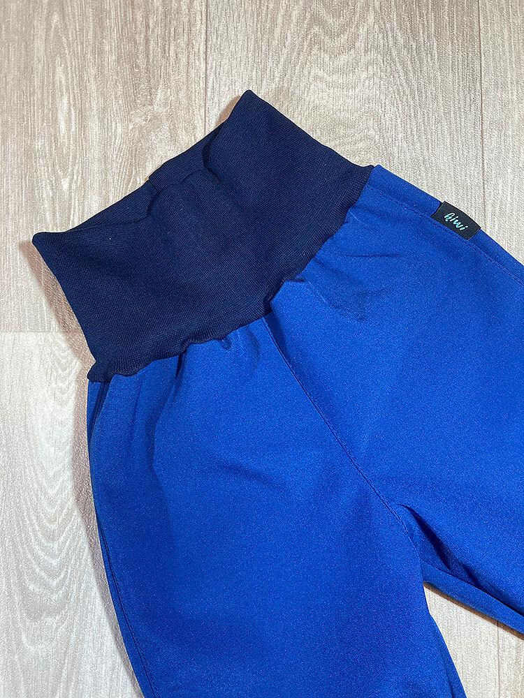 Nohavice softshellové zateplené modré Kiwi