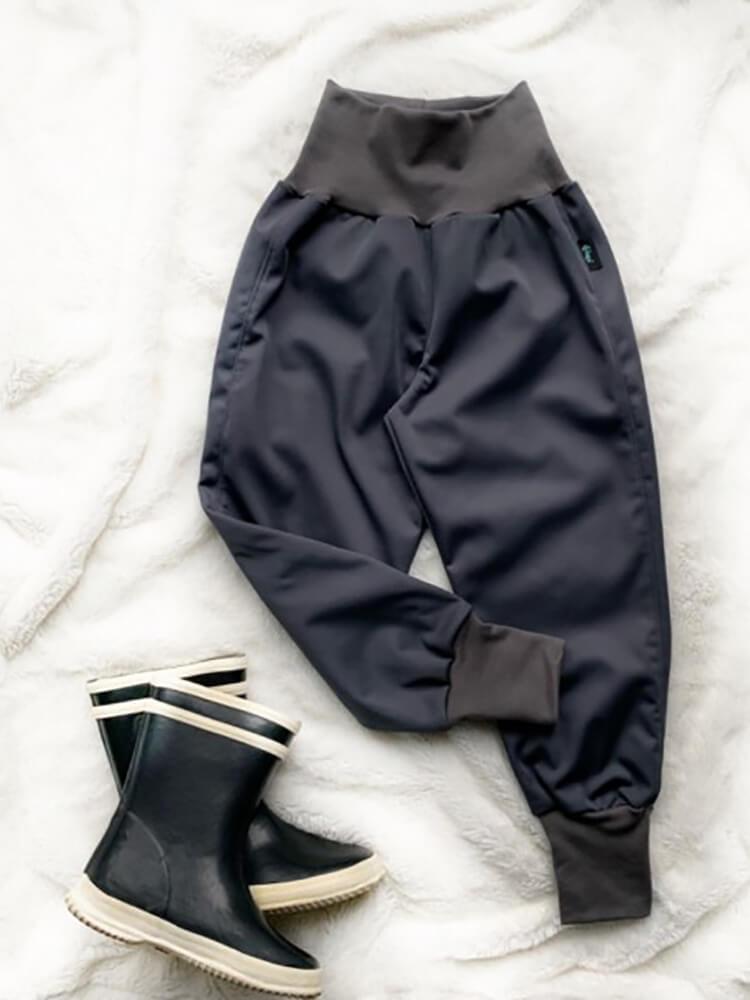 Nohavice softshellové zateplené tmavošedé Kiwi