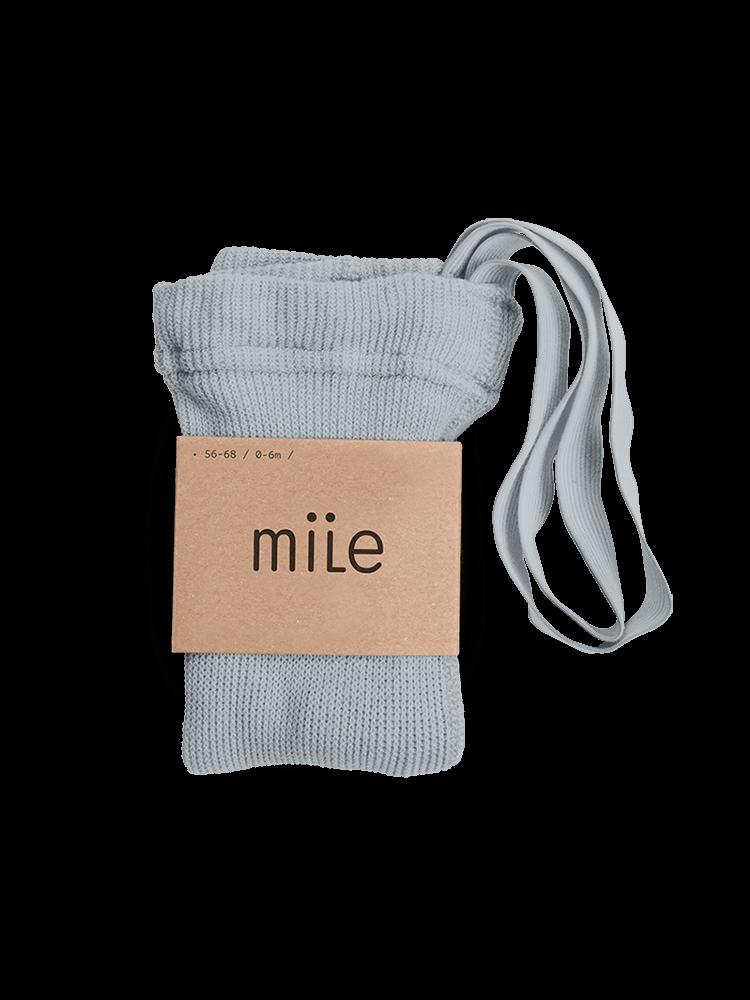 Pančuchy s trakmi sivé Mile