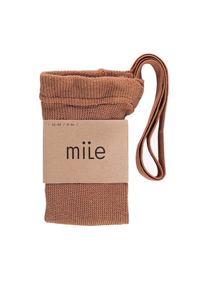 Pančuchy s trakmi škoricové Mile