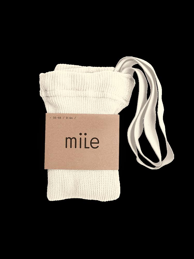 Pančuchy s trakmi smotanové Mile