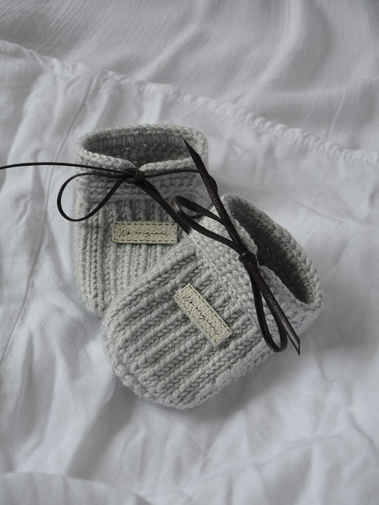 Papučky Moccasins svetlosivé Withloveboots