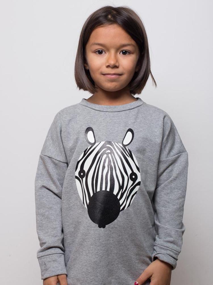 Mikina svietiaca Zebra Lemur