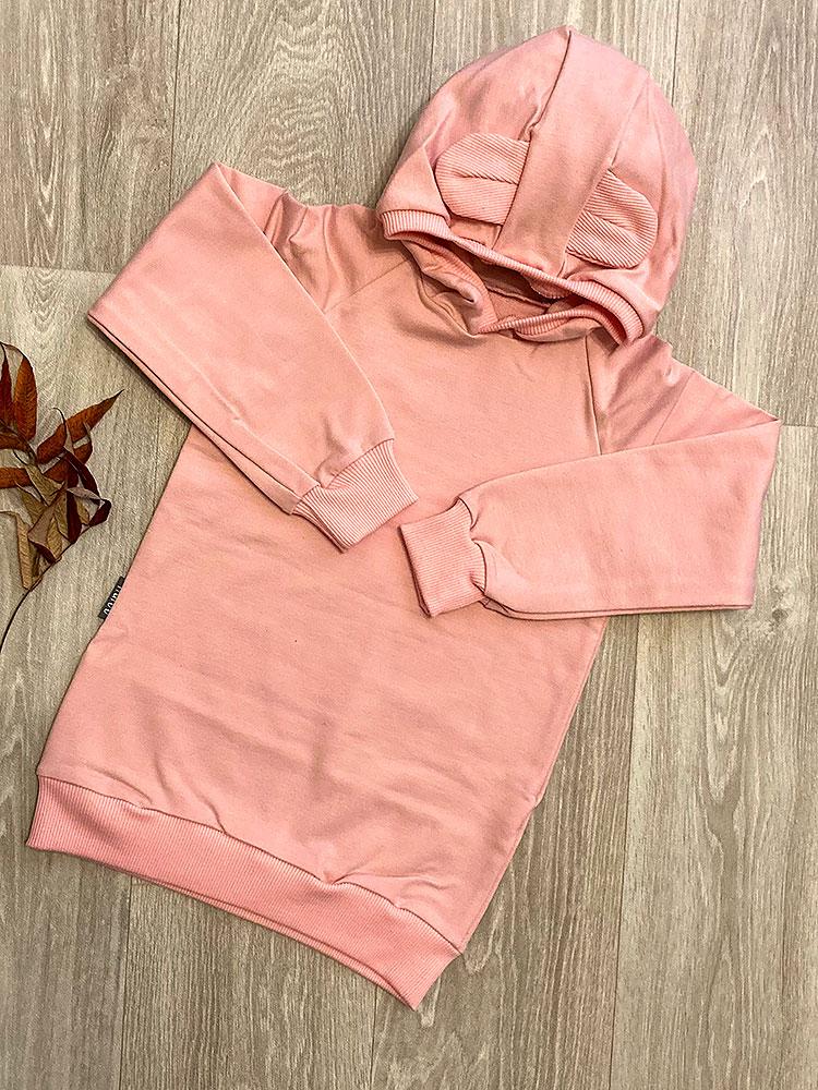 Mikina uškatá soft pink Haloo