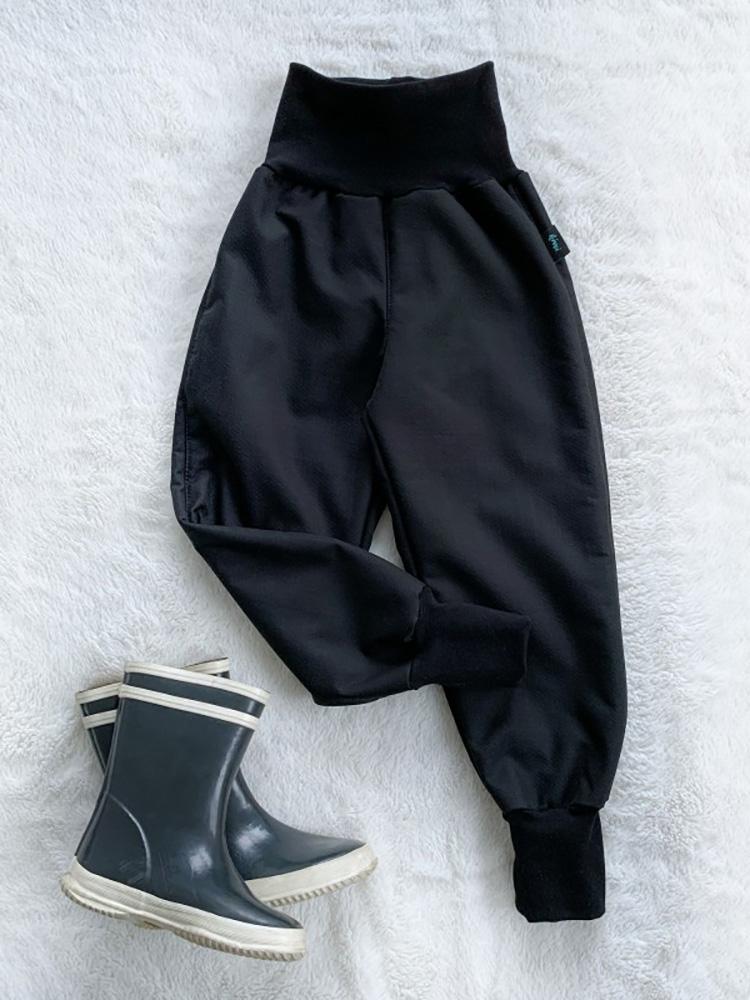 Nohavice softshellové s barančekom čierne Kiwi