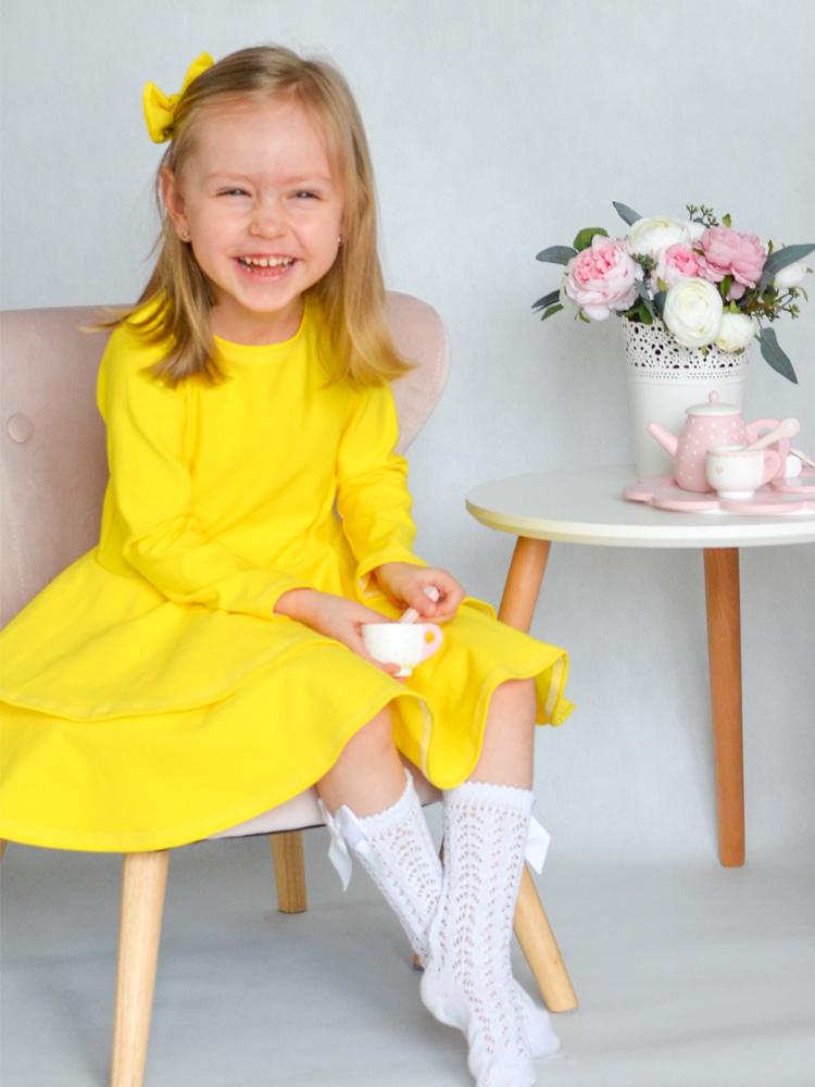 Šaty Adelka žlté Hole