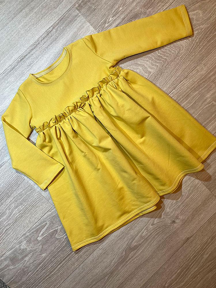Šaty Ela žlté Hole