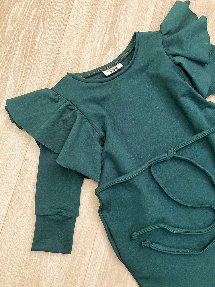 Šaty rastúce s opaskom smaragdové Hey Little Owl